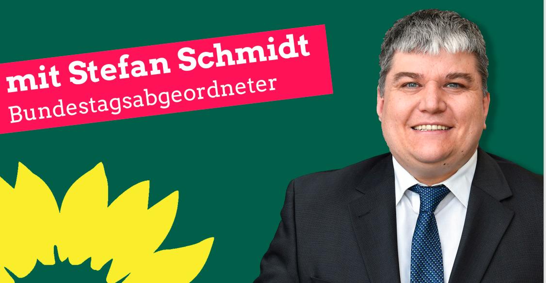 Grün macht Zukunft - Diskussion mit MdB Stefan Schmidt zur Bundestagswahl im September 2021